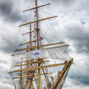 Sorlandet by David Pilasky - Transportation Boats ( boating, water, history, tall ships, sailing, ship, cleveland )
