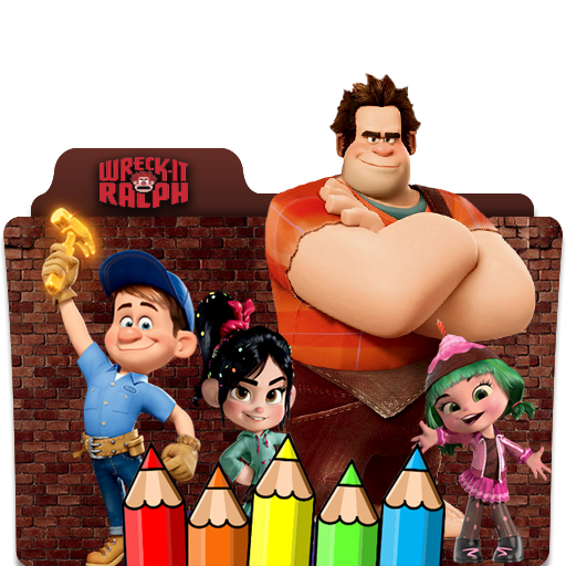 coloring wreck it ralph for fans