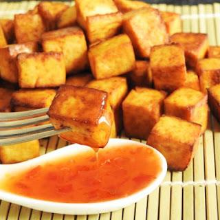5 ingredients Baked Tofu Snack.