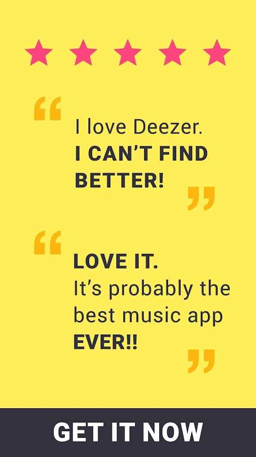 Deezer: Songs & Album Streaming with our Music App- screenshot