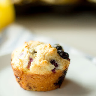 Lemon Curd Blueberry Muffins.