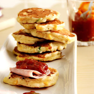 Corn and Cheese Pancakes