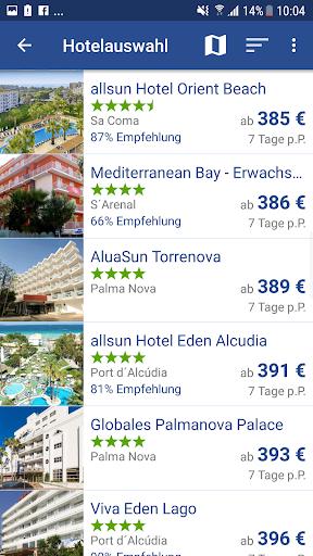 Ab in den Urlaub - Reisen zu Last Minute Preisen 1.6.8 screenshots 2
