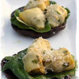 Funghi Portobello con Carciofi {Grilled Portobello w/sauteed Artichokes}