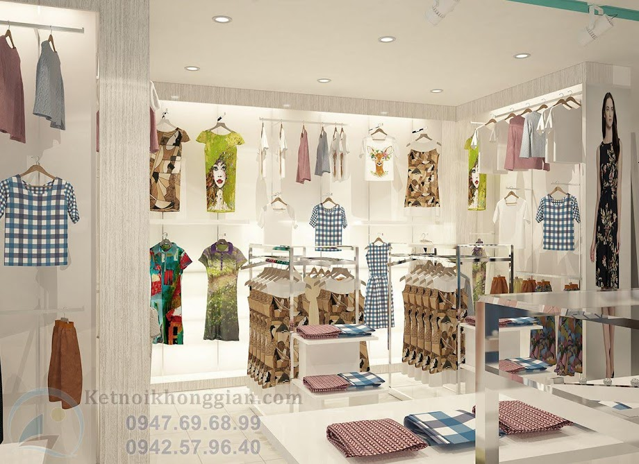 thiết kế shop thời trang ấn tượng
