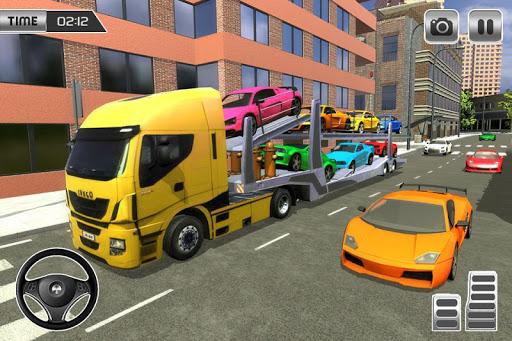 Heavy Car Carrier Truck Driving Simulator 2019 screenshots 5