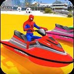 Superheroes Jet Ski Stunts: Top Speed Racing Games Icon