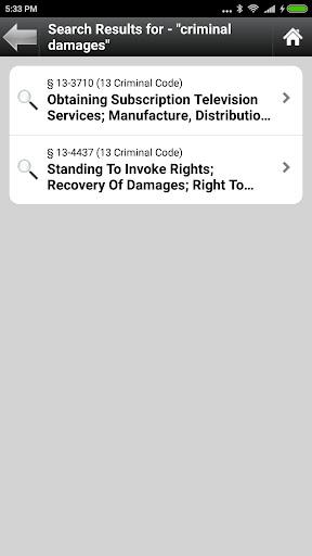Arizona Statutes, ARS (AZ Law)  screenshots 6