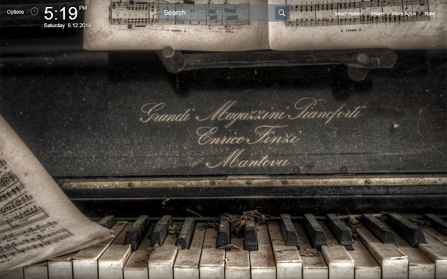 Piano Wallpapers Theme New Tab