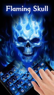 Flaming Skull Keyboard Theme 2