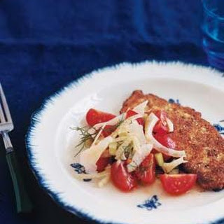 Pan-Fried Chicken Cutlets With Fennel Salad