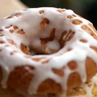 Baked Pumpkin Donuts with Vanilla Glaze