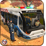 Police Bus Uphill Driving Icon