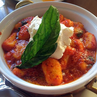 Gnocchi with Classic Tomato Sauce Topped with Ricotta Cheese Recipe