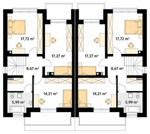 Pistacjowy - Rzut piętra