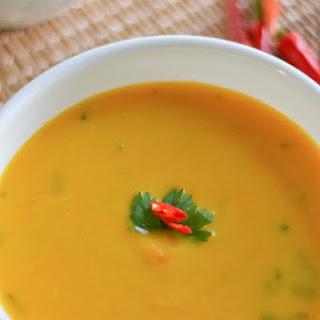 Slow Cooker Thai Pumpkin Coconut Soup.
