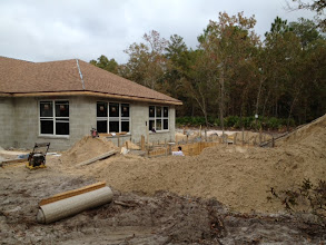 Photo: November 14, 2012 Laying pool forms. Photo by Lake Weir Living