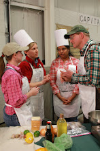 Photo: VT Agency of Agriculture Capital Cook-Off Team (from left to right) Lauren Masseria, Maria Steyaart, Shelly Saleem, and John Roberts