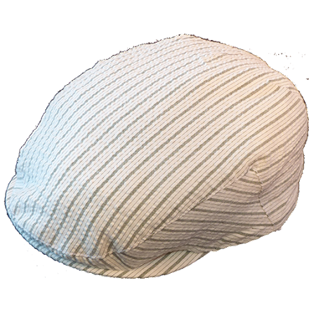Stripe flat cap, vit