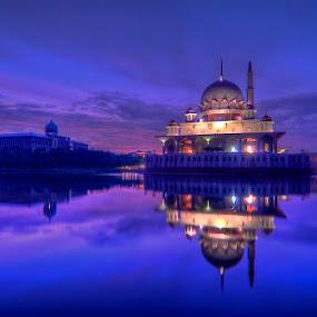 Putra Mosque by Sham ClickAddict - City,  Street & Park  Vistas