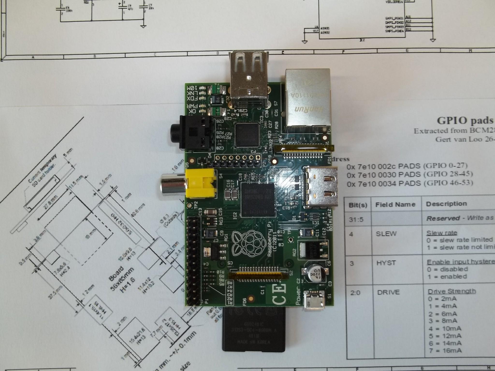 Photo: varie viste della Raspberry Pi