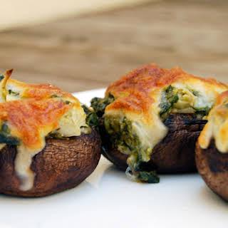 Artichoke Stuffed Mushrooms.