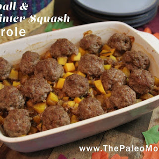 Meatball & Winter Squash Casserole