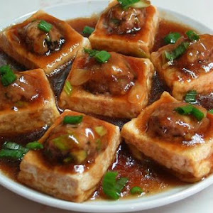 Pan-Fried Stuffed Tofu With Oyster Sauce