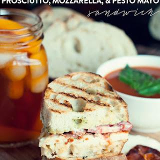 Grilled Prosciutto, Mozzarella, and Pesto Mayo Sandwich
