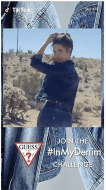 brand take over ad for Guess