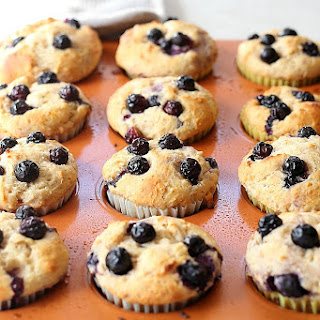 Blueberry Lemon Yogurt Muffins.