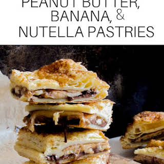 Peanut Butter, Banana, and Nutella Pastries.