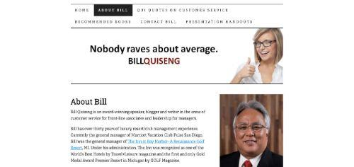 A screenshot of Bill's blog