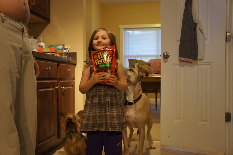 Photo: Can you see how excited the dogs were about getting a treat