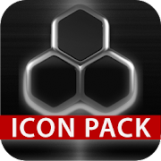 GLOW SILVER icon pack HD 3D  Icon