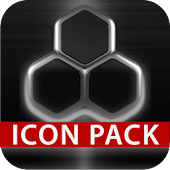 GLOW SILVER icon pack HD 3D