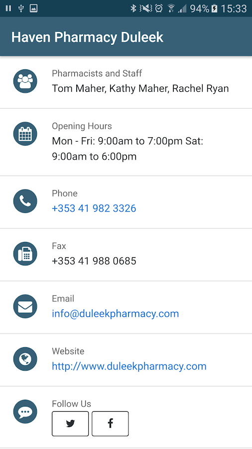 Haven Pharmacy Duleek- screenshot