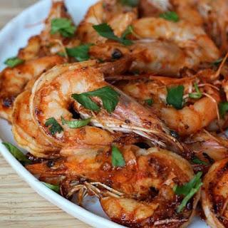 Stir-fried Garlic and Sriracha Shrimp.