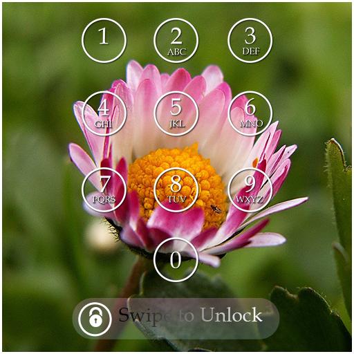 Flower Keypad Screen Lock