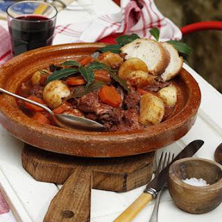 Rabbit Stew Maltese style or 'Stuffat tal-Fenek'.
