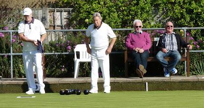 Photo: Interested spectators- Ian King & Les Rushbrooke.