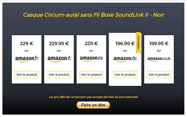 Amazon comparateur