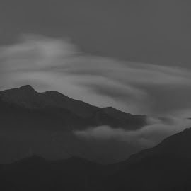 Mount Olympus by Ewald Gruescu - Black & White Landscapes ( olympus, black, mount, long, nikon, white, greece, exposure, nd, vacation, dslr, photography, landscape, hoya )