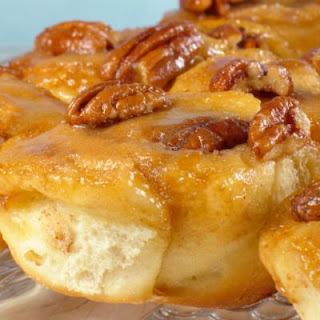 Caramel Apple Buns with Pecans