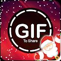 gif for whatsapp - Merry Xmas Happy New year 2021 icon