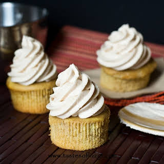 Apple Butter Buttercream Cupcakes.