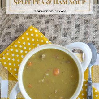 Crock Pot Split Pea Ham Soup.