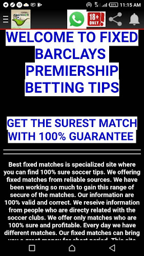 FIXED BARCLAYS PREMIERSHIP BETTING TIPS on Google Play