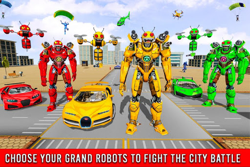 Bee Robot Car Transformation Game: Robot Car Games 1.0.7 screenshots 4