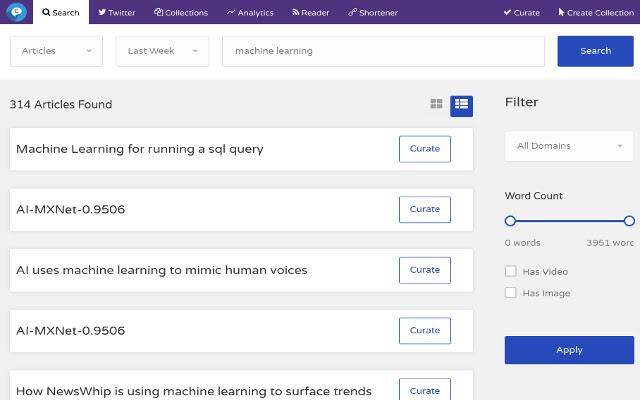CuratorSpot - Content Curation Tool.